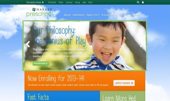 Web Design: New Preschool Division